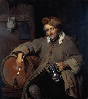 The Old Drinker by Gabriel Metsu (c. 1657)