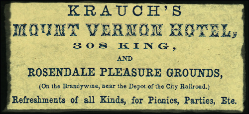 Ad from 1865 Wilmington City Directory