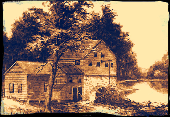"""Old Barley Mill"" painting by Robert Shaw (courtesy Hagley Museum & Library)"
