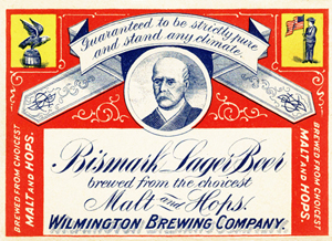 Wilmington Brewing Co. label, circa 1910