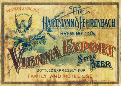 H&F Vienna Export label, circa 1900 (courtesy of Bob Kay)