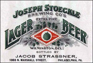 Stoeckle label, c. 1910 (courtesy Bob Kay)